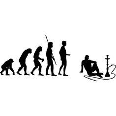 Evolution Shisha Wasserpfeife - Die Evolution der Menschheit vom Affen bis hin zum rauchenden einer Shisha bzw. Wasserpfeife. F�r alle Liebhaber des Orientalischen Rauchvergn�gens.