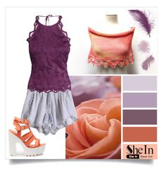"""""""Purple * Mauve * Peach"""" by ixela ❤ liked on Polyvore featuring H&M, women's clothing, women, female, woman, misses and juniors"""