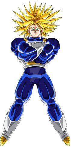 Hola. Este es un dibujo que hice de Trunks Del Futuro en Super Saiyajin Dai San Dankai. Espero que les guste.