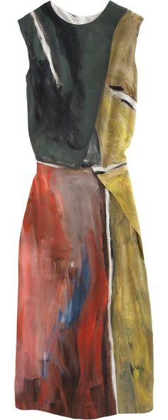 Cedric Charlier Multi Paint Print Dress