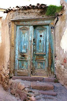 An old door at Ankara Castle. Turkey.