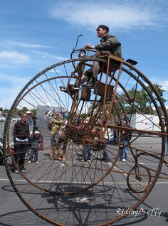 bicycle rolled through the village of The Makers Faire. photo by ridingpretty - They'd never allow it.