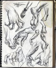Sketchgroup: Hand and Foot sketches