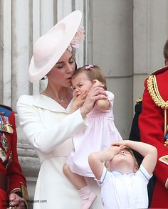 Catherine, Duchess of Cambridge, Princess Charlotte of Cambridge and Prince George of Cambridge attend the Trooping the Colour, this year marking the Queen's birthday at The Mall on June 2016 in London, England Kate Middleton Prince William, Prince William And Catherine, William Kate, Prince And Princess, Princess Diana, Princess Caroline, Queen 90th Birthday, Princesa Kate Middleton, Prince George Alexander Louis
