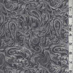 Sterling Grey/Charcoal Jacquard - Fabric By The Yard