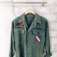 Stumbled upon the cutest store @shopstonefree & found the raddest army shirt last week in #NOLA. Can't wait to wear it.