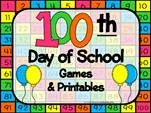 Games and printables for the 100th day of school