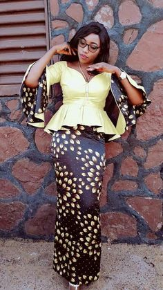 Classy picture collection of Beautiful Ankara Skirt And Blouse Styles These are the most beautiful ankara skirt and blouse trending at the moment. If you must rock anything ankara skirt and blouse styles and design. Ankara Styles For Women, Beautiful Ankara Styles, Latest Ankara Styles, African Dresses For Women, African Attire, African Wear, African Fashion Dresses, African Women, Kente Styles