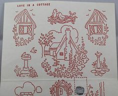 Vintage Iron-on Transfer - Love in a Cottage