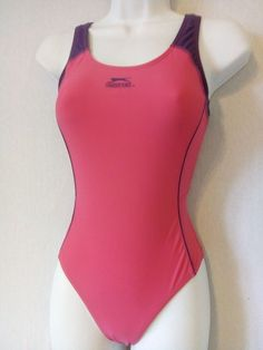 51df1787d3548 Ladies Pink Mix SLAZENGER Racing Back Swimsuit Size 8 - Racer Swimming  Costume  fashion