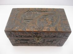 Wood Carved Chinese Box Jewelry Box With by MyLittleSomethings, $47.50