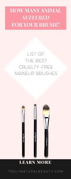 Why should you choose and use only cruelty-free makeup brushes? Here you have an awesome writing and list why you should. Check out this cruelty-free brush list. Please REPIN! <3 :)
