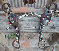 Dogbone Sugar Skull Bit... ~ re-pinned by haihorsie.com ~ horse and equestrian-themed gifts and home decor.