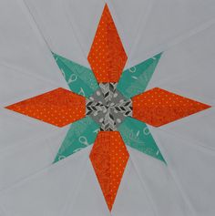 Betelgeuse block with pattern link | foundation paper piecing | by jenjohnston