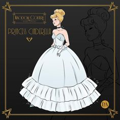 in a classic, understated ball gown fit for any princess 🖤💙💖 her steely blue dress is so pretty and I think this is pretty close to the original, mixed with a flair. Disney Princess Fashion, Disney Princess Art, Disney Style, Aladdin Princess, Punk Princess, Princess Aurora, Princess Bubblegum, Disney Artwork, Disney Fan Art