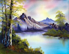 bob ross evenings glow painting - bob ross evenings glow paintings for sale. Shop for bob ross evenings glow paintings & bob ross evenings glow painting artwork at discount inc oil paintings, posters, canvas prints, more art on Sale oil painting gallery. Oil Pastel Landscape, Watercolor Landscape, Pinturas Em Tom Pastel, Pinturas Bob Ross, Peace Painting, Painting Art, Oil Painting Landscapes, Painting Portraits, Bob Ross Art