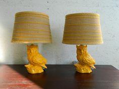 Butterscotch Barn Owl Lamps