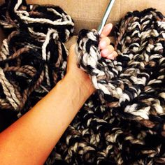 Double thick chunky knit crochet scarf  http://www.etsy.com/shop/paCkbAby  #chunkyknit #crochet #scarf