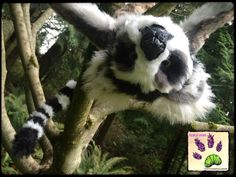 handmade poseable animal recycled artist touchedbylavender Touched by Lavender artist artician craft crafts stuffed animal plush plushie Deviant art: http://touchedbylavender.deviantart.com/ Facebook: https://www.facebook.com/touchedbylavender?ref=hl   Ringtailed lemur