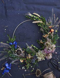 Autumn Wreath, photo by Sian Richards Autumn Wreaths, Floral Wreath, Backyard, Flowers, Handmade, Home Decor, Homemade Home Decor, Yard, Hand Made
