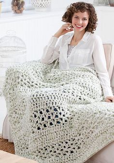 Ravelry: Super Quick Throw pattern by Marilyn Coleman. Free crochet pattern.