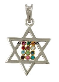 Gold Filled Two Tone Star of David Choshen Pendant by aJudaica