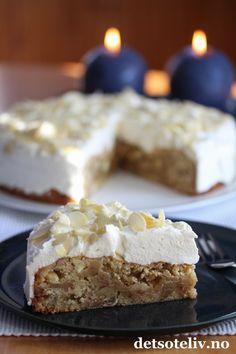 Blondie med krem | Det søte liv Sweet Recipes, Cake Recipes, Norwegian Food, Blondies, Let Them Eat Cake, Nom Nom, Deserts, Food And Drink, Muffins