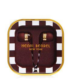 Henri Bendel Striped Earbuds | Travel | Henri Bendel