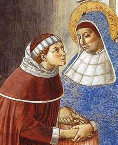 Benozzo Gozzoli: San Agustín y santa Mónica. Capilla san Agustín. San Gimigniano, s. XV.