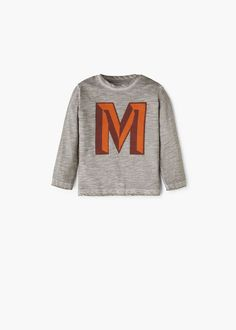 T-shirt algodão estampada -  Criança   OUTLET Portugal