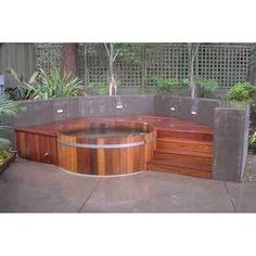 Modern outdoor spas