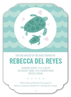 SEA TURTLE INVITATIONS | Baby Shower Invitations from Paper Muse Press