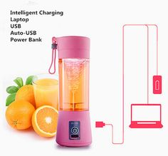 Mini Portable Electric Fruit Juicer Machine USB Rechargeable Smoothie Maker Blender Shake And Take Juice Slow