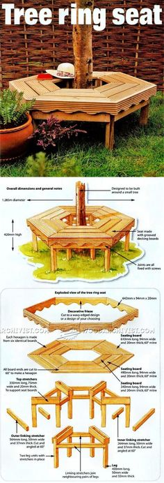 Tree Bench Plans - Outdoor Furniture Plans & Projects | WoodArchivist.com