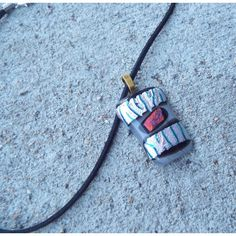 Fused Glass Necklace Dichroic Glass Pendant by FancyThatFusion ($25) found on Polyvore