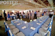 Indoor wedding reception in the banquet room at Sunken Gardens in St Petersburg, FL