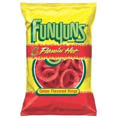 Frito Lay Funyuns Flamin' Hot 6.5-Ounce - Food & Grocery - Snacks -... ($3.29) ❤ liked on Polyvore featuring food