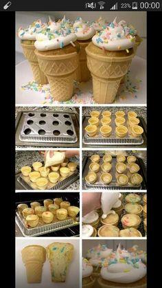 Ijsjes cupcakes