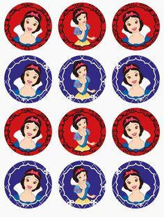 Ideas For Cupcakes Fondant Disney Snow White Snow White Cupcakes, Snow White Cake, Disney Printables, Party Printables, Free Printables, Printable Invitations, Disney Princess Party, Princess Birthday, Cinderella Birthday