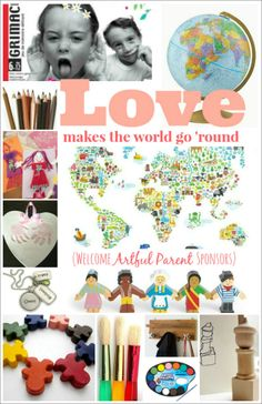Love makes the world go 'round -- kids products that promote global awareness and creativity