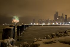 New Years Eve celebration fireworks in Chicago!