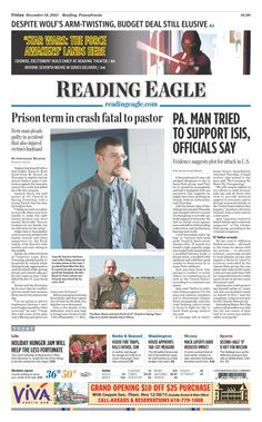 Today's front page. Dec. 18, 2015.