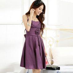 Purple casual dresses - 3 PHOTO!