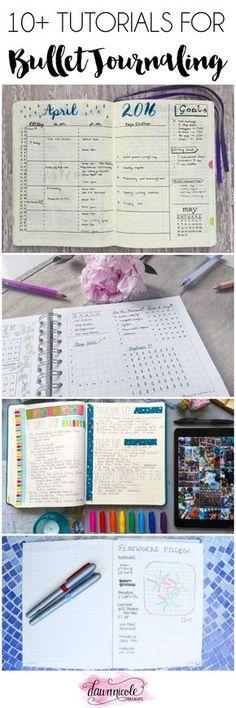 tutoriais para bullet journal, inspiração, ideias.