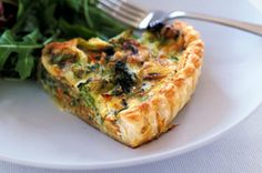 A low-fat vegetarian quiche - what could be better