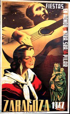 Cartel Pilar 1942 Titulo: (Doce de Octubre