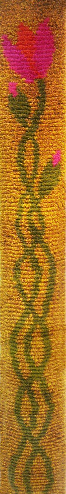 Keisarin morsian keltainen ommellen 25 x 200 Design Jukka Vesterinen Rya Rug, Wool Rug, Wall Hangings, New Art, Weaving, Arts And Crafts, Rugs, Knitting, Crochet