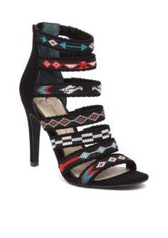 Jessica Simpson Black Erienne Sandals