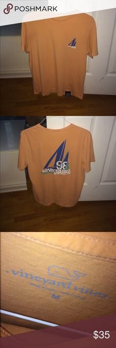 Vineyard Vines 98' Tee 100% cotton but feels softer , very comfortable, good condition, no stains at all Vineyard Vines Shirts Tees - Short Sleeve