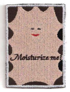Doctor Who Cassandra Moisturize Me Patch by StoriedThreads on Etsy, $10.00